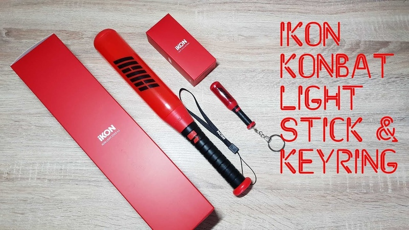 РАСПАКОВКА IKON Konbat Official Light Stick Keyring