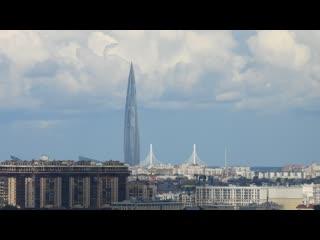 """Лахта Центр и подъём флага """"Зенита"""" 24 июля'20"""