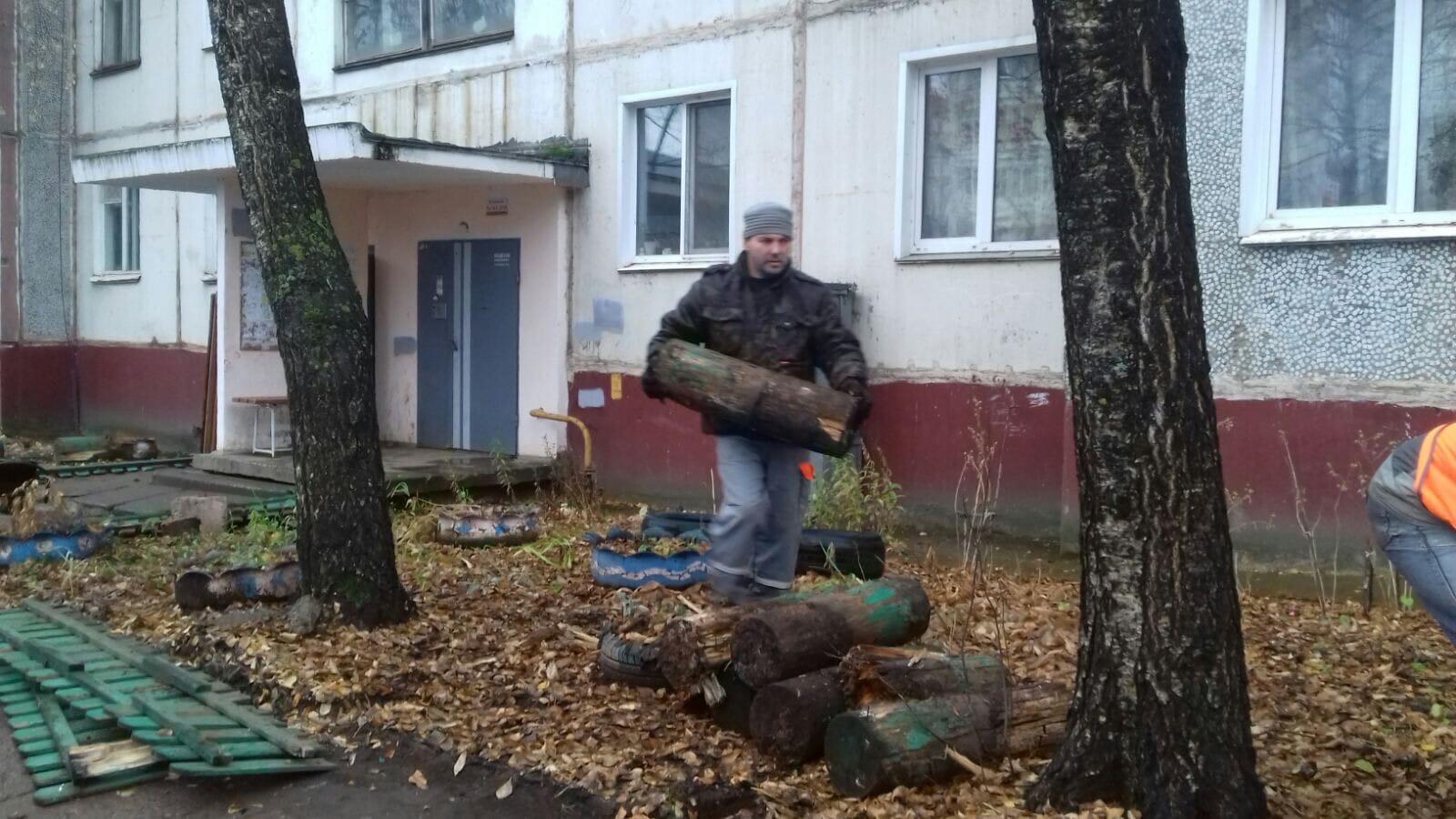 Ул. М. Конева, 5. Демонтаж старого забора,