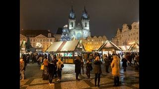 Демонстрация и Рождество в Праге . Праздник и красота города Прага .