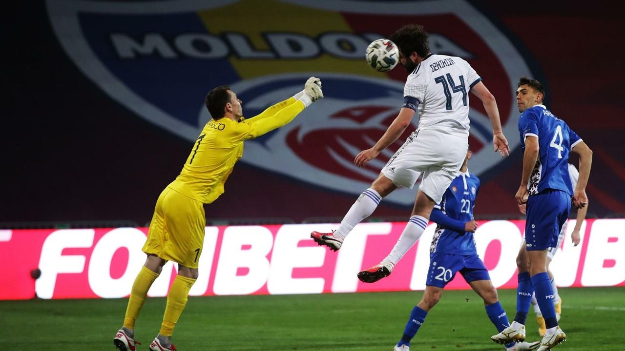 Молдова - Россия, 0:0. Георгий Джикия