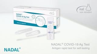 NADAL® COVID-19 Ag Test - Antigen rapid test for self-testing (Order No. 243103N-01)