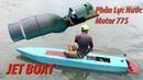 Chế động cơ phản lực nước sử dụng motor 775 chạy thuyền chở người Jet Boat