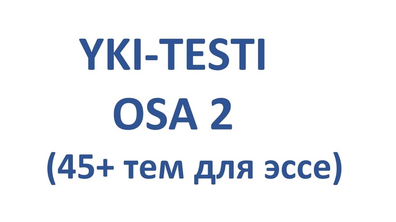 YKI testi osa 2