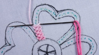 hand embroidery new braid stitch variation flower design with easy following tutorial